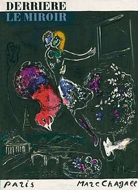 Lithographie Chagall - Nacht in Paris