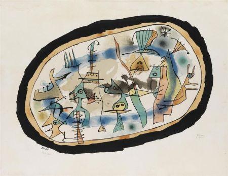 Lithographie Miró - Naissance du jour