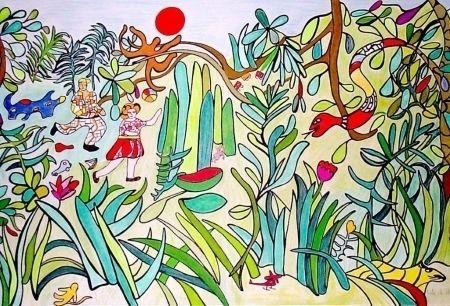 Lithographie De Saint Phalle - Nana