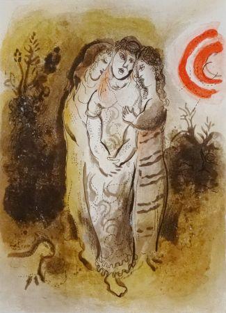Lithographie Chagall - Naomi Et Ses Belles-Filles