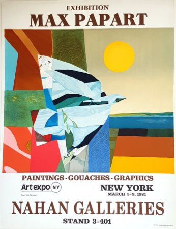 Lithographie Papart - Nathan Galleries Exhibition  New york 1981