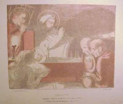 Lithographie Denis - Nativité