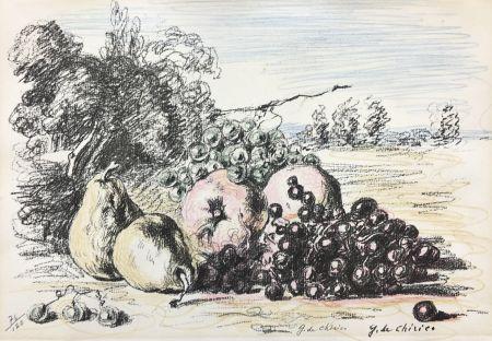 Lithographie De Chirico - Natura morta