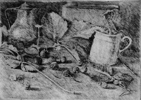 Eau-Forte Barbisan - Natura morta con fragole