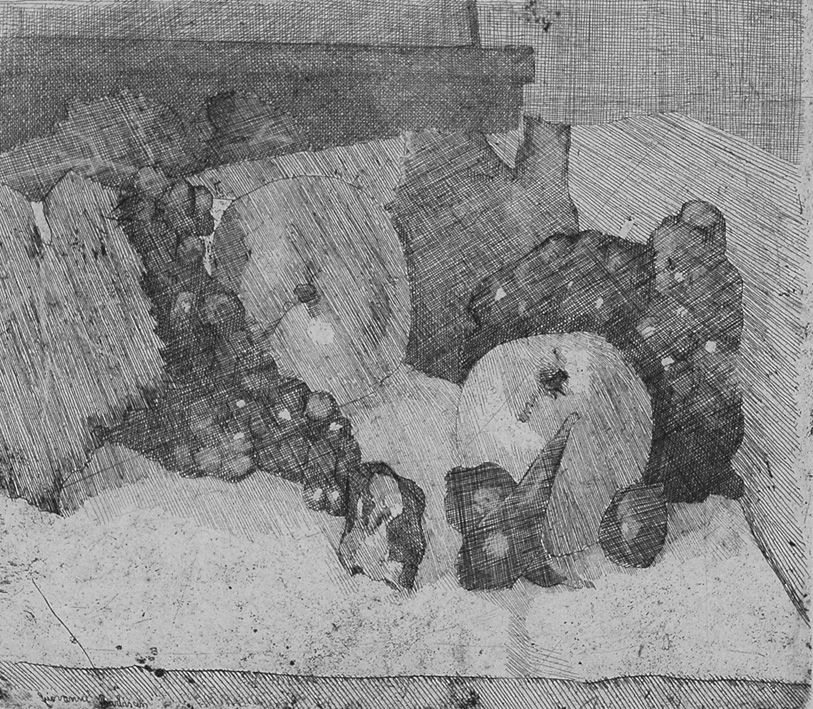 Eau-Forte Barbisan - Natura morta con uva e fichi