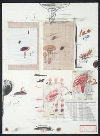 Lithographie Twombly - Natural History Part I: Mushrooms IV