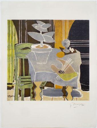 Lithographie Braque - Nature Morte À La Palette