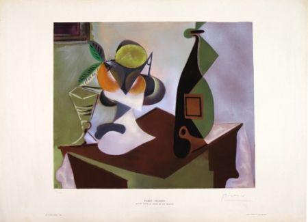 Lithographie Picasso - Nature Morte au Citron et aux Oranges
