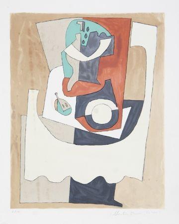 Lithographie Picasso - Nature Morte Au Gueridon et a L'Assiette