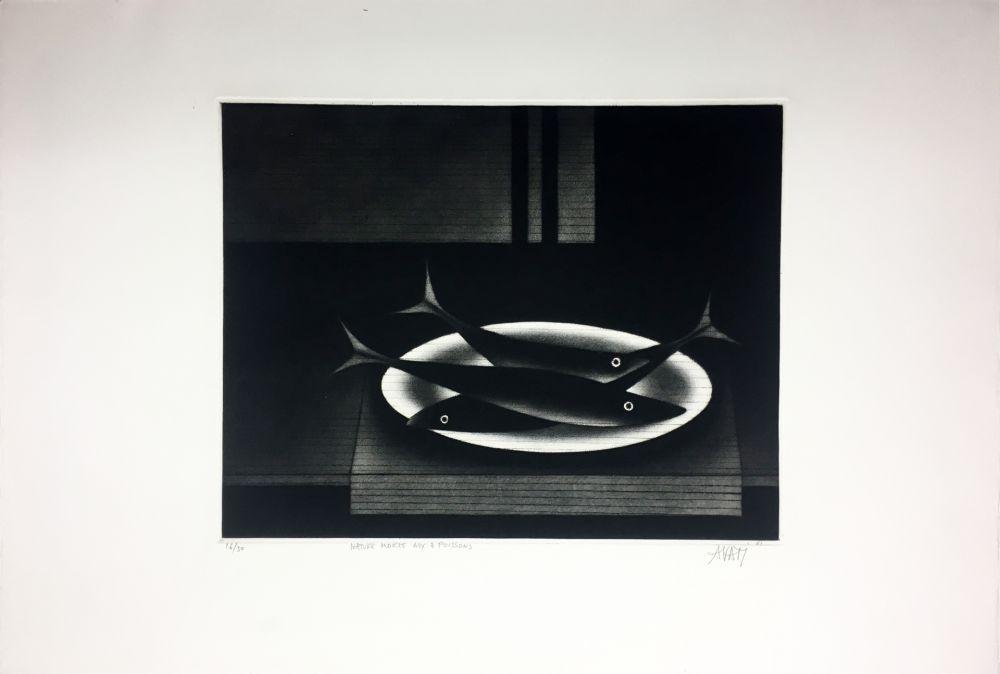 Manière Noire Avati - Nature morte aux 3 poissons (1961)