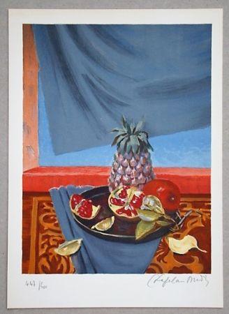 Lithographie Chapelain-Midy - Nature Morte aux Ananas et Grenades