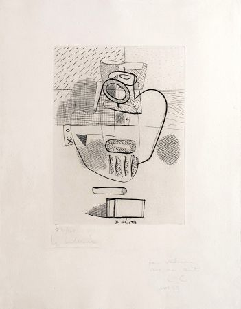 Gravure Le Corbusier - Nature Morte (hand-signed, numbered, dedicated)