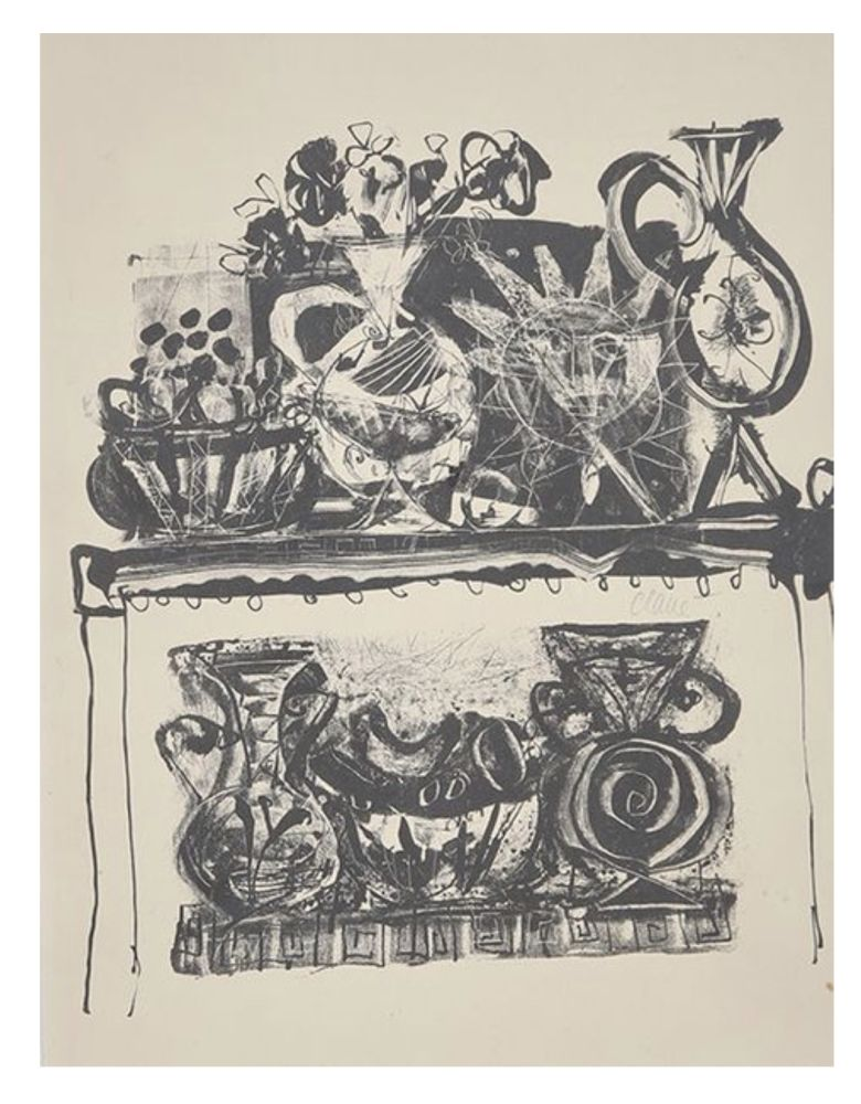 Lithographie Clavé - Nature morte / Still life