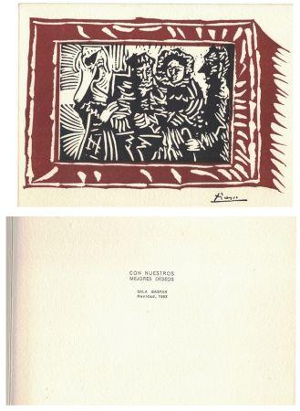 Linogravure Picasso - '' Navidad 1963 ''