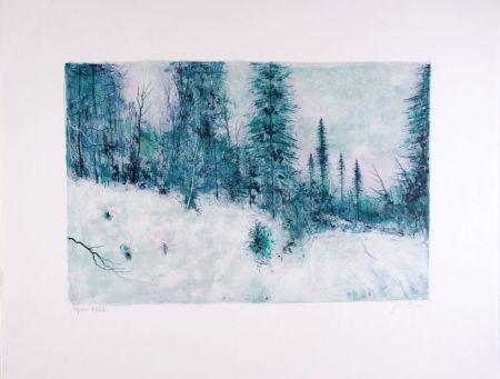 Lithographie Gantner - Neige I - Snow I