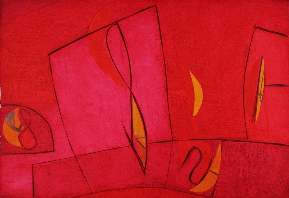 Gravure Cascella - Nel giorno assoluto rosso