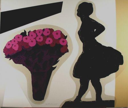 Sérigraphie Pozzati - Nello studio di Degas