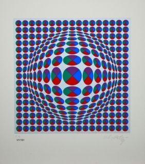 Aucune Technique Vasarely - Neptune Argent