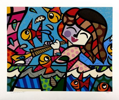 Sérigraphie Britto - NEPTUNE'S DAUGHTER