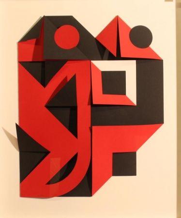 Sérigraphie Castellani - Nero e rosso