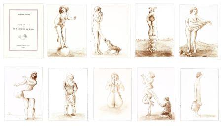 Lithographie Topor - Neuf Grâces