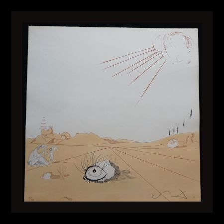 Gravure Dali - Neuf Paysages Espace Paysage from Cobea