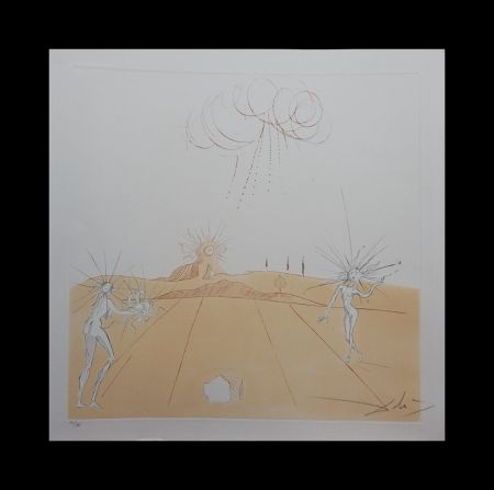 Gravure Dali - Neuf Paysages Paysage avec Figures-Soleil from Sun