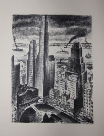 Lithographie Lubbers - NEW-YORK
