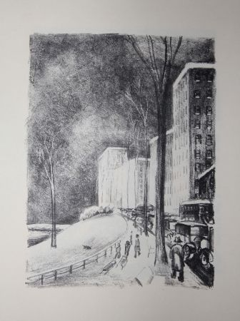Lithographie Lubbers - NEW-YORK / CENTRAL PARK