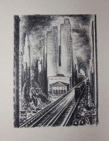 Lithographie Lubbers - NEW-YORK / SUBWAY