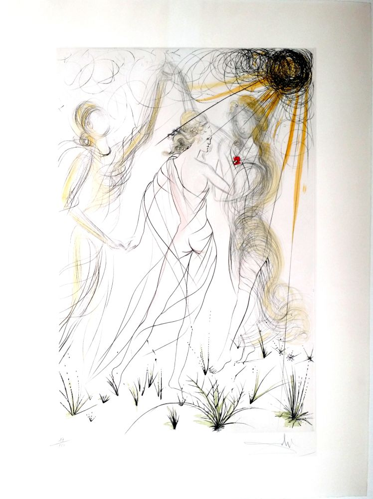 Gravure Dali - New Mythological Suite/ Le Printemps (8)