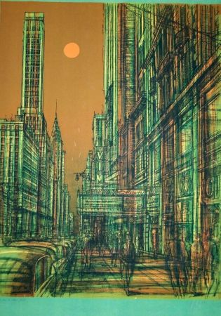 Lithographie Carzou - New york