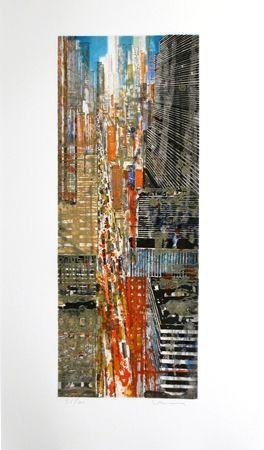 Eau-Forte Et Aquatinte Salzmann - New York 5ème Avenue.