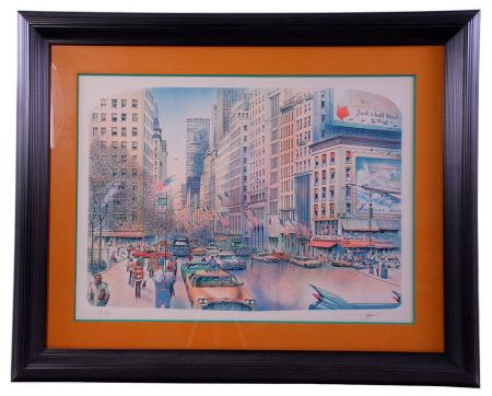 Lithographie Rafflewski - New York 5th Avenue