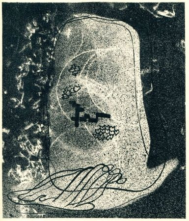 Lithographie Styrsky -  NEZVAL (Vitezslav). Zidovsky hrbitov (Le Cimetière juif).