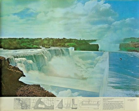 Lithographie Superstudio - Niagara o l'architettura riflessa