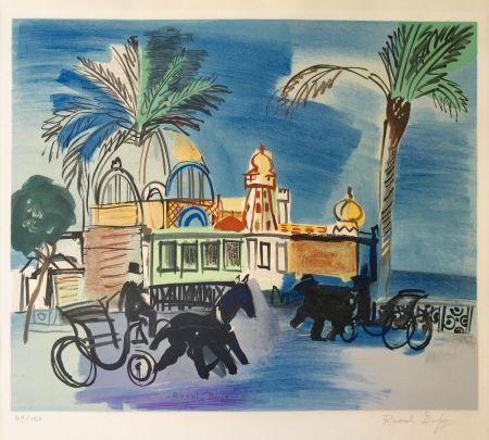 Lithographie Dufy - Nice - le Casino de la Jetée aux deux