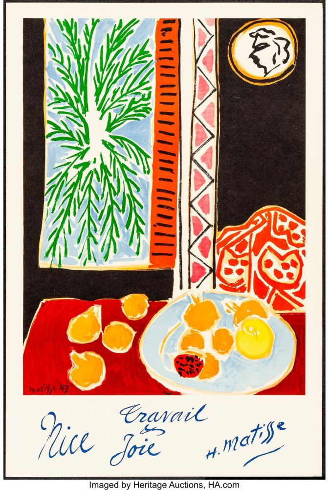Lithographie Matisse - Nice, Travail et joie