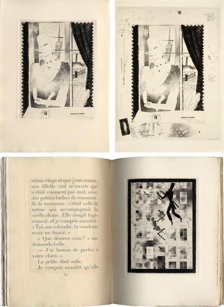Livre Illustré Alexeïeff - Nicolai Gogol : JOURNAL D'UN FOU (1927).