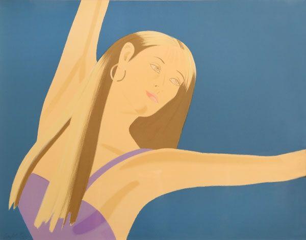 Lithographie Katz - Night: William Dunas Dance 4 (Pamela)