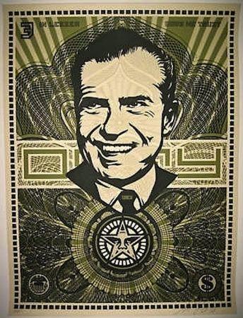 Sérigraphie Fairey - Nixon Money