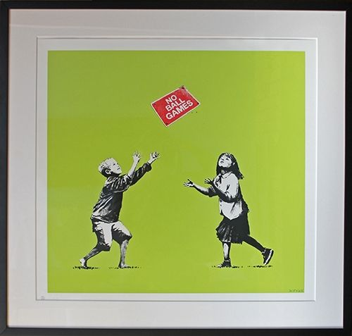 Sérigraphie Banksy - No Ball Games (Green)