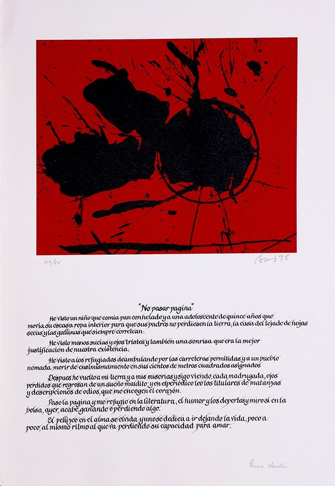 Lithographie Bird - No pasar página