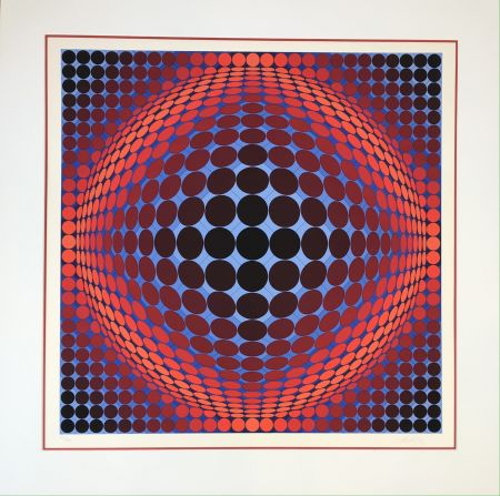 Lithographie Vasarely - Nobel 7