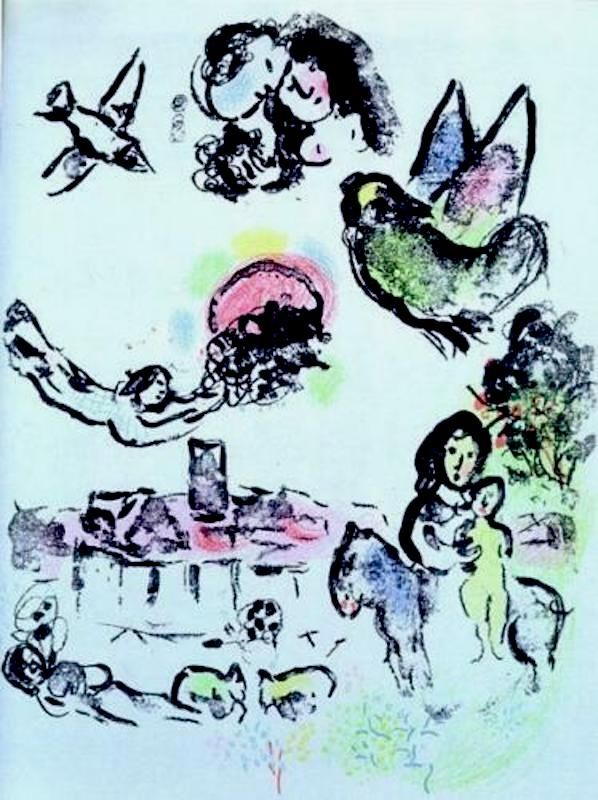 Lithographie Chagall - Nocturne a Venice (M.400)