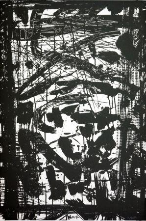 Lithographie Huftier - Noir
