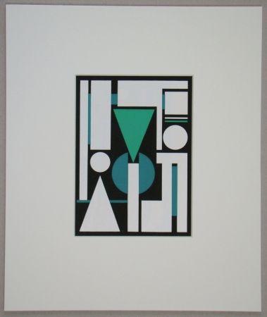 Sérigraphie Herbin - Non, 1951