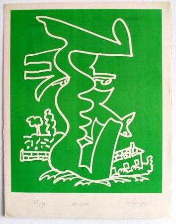 Lithographie Lapicque - Normandie