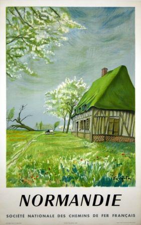 Lithographie Foujita - Normandie Bretagne