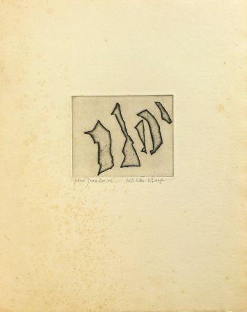 Gravure Celan Lestrange - Nos frères/ Unsere Brüder